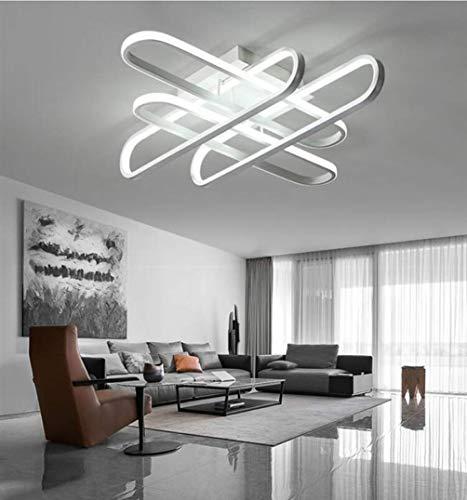 WENYAO Luci Moderne del candeliere del LED per la Camera da Letto del Salone Camera dei Bambini Lampada al soffitto del soffitto del soffitto montata Principale, Coldwhite, 610X610x160mm