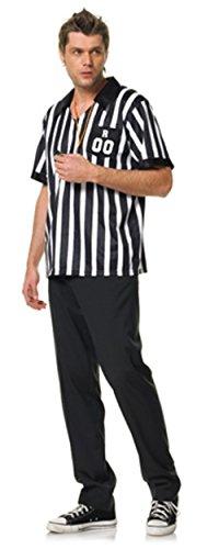 Fasching Kostüm Schiedsrichter Rollenspiele Karnevall Fußball Trikot Leg Avenue ML XL Schwarz Größe M/L