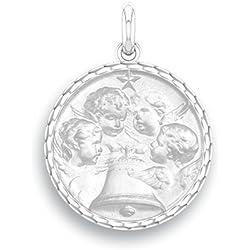 ANGELUS - Médaille Religieuse - Argent 925/00 - Diamètre: 17 mm - www.diamants-perles.com