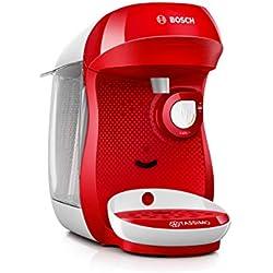 Bosch Electroménager TAS1006 Bosch Tassimo Happy machine café multi-boissons blanc et rouge, 1400 W, 0.7 litre
