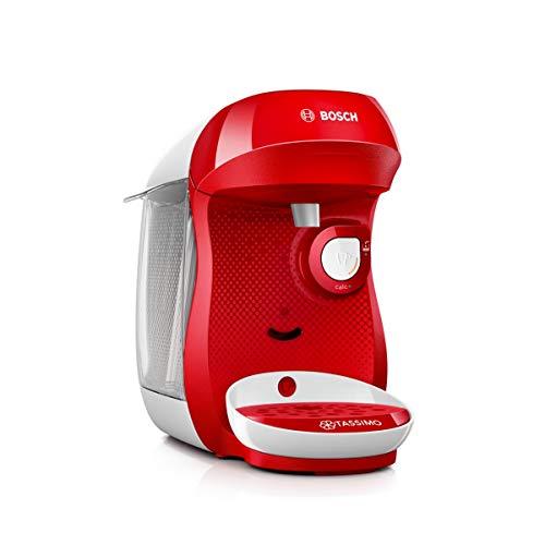 Bosch TAS1006 Tassimo Happy Kapselmaschine (über 70 Getränke, vollautomatisch, geeignet für alle Tassen, einfache Zubereitung, 1.400 Watt) rot/weiß