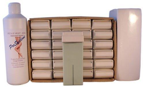 EPILWAX S.A.S - Lot De 24 Roll-On De Cire épilatoire Jetable À L'Aléo Véra, avec Roulette Grand Modèle pour les jambes, aisselles, et le corps, avec 250 Bandes et 1 flacon d'Huile après épilation.