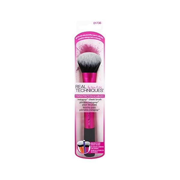 Real Techniques Instapop Cheek Brush – Brocha para Mejillas, Negro/Rosa