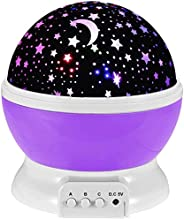 Toys for 2-7 Year Old Girls,Baby Night Light with Projector 360 Degree Rotation, 4 LED Bulbs 9 Light Color Cha