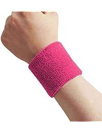 Zerama 1x Unisex Tela de Toalla de algodón Sweatband de Pulsera Deportivo de Tenis el Wristband