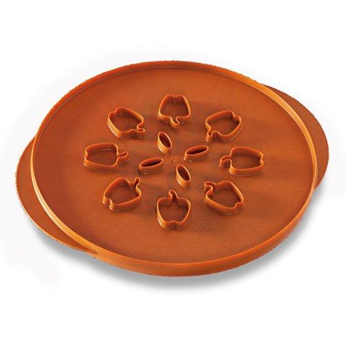 Nordic Ware Tortenaufsatz Apples & Leaves Pie Apples and Leaves Orange Pie Top Cutter