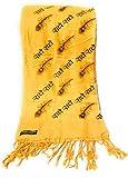 Chircrafts Women's Cotton Blend Stole/Shawl (Yellow, Free Size)