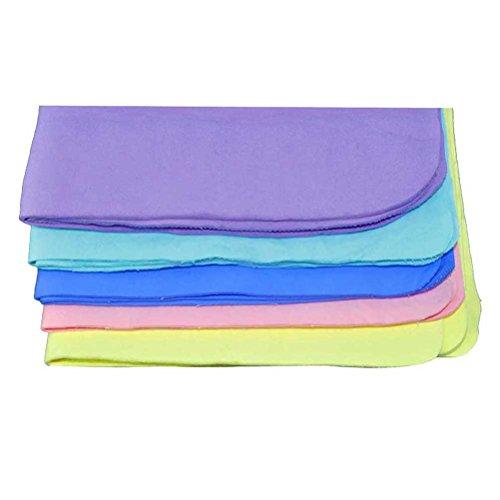 Nunubee Hoch Saugfähige Handtücher PVA Chamois Handtuch Sporthandtücher Yogahandtücher Auto Reinigungstücher, Gelegentliche Anlieferung der Farbe