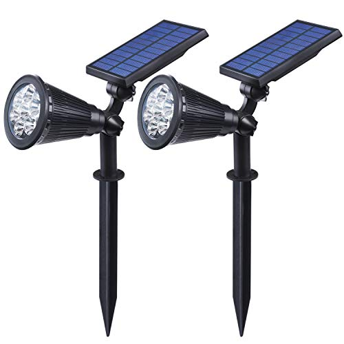 Luposwiten 7LED Solar Solarlampen für Außen, Außenbeleuchtung wasserdicht Solarleuchte für Garten, Hof, Garage, Auffahrt, Pfad, Innenhof und Balkon [IP55 Wasserdicht]