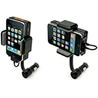IN CAR FM TRANSMITTER ALL IN ONE CAR KIT WITH CHARGER & REMOTE CONTROL FULL HANDS FREE HANDSFREE For Apple iPhone 4 4S 4G 3GS 3G 2G 4GS iPod Touch 2 3 4 2ND 3RD 4TH Generation + [1 Year Warranty] + [Crazy4fones Accessories Range]