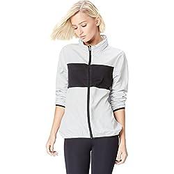 Activewear Cortavientos con Cremallera para Mujer , Gris (Silver Grey/black), 40 (Talla del Fabricante: Medium)