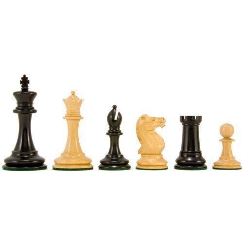 Ancien Anglais Série Elite Staunton Pièces D'échecs 8.9cm