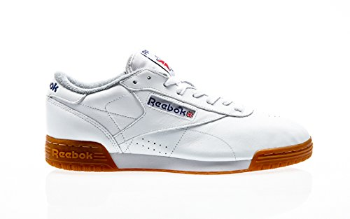 Reebok Exofit Lo Clean Logo R12 Gum Pack, white/royal/tin grey, 44,5 (Running Pack Reebok)