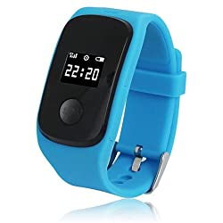 Unisex's GPS tracking SOS Rectangle Dial Silicone Band Electron Analog Smart Wrist Watch(Assorted Color)