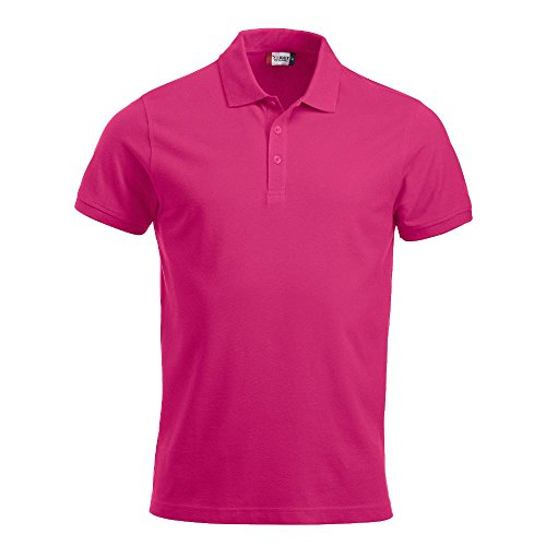 Clique Herren Poloshirt Classic Lincoln Polo, Pink (Bright Cerise), XX-Large