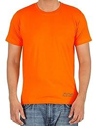AWG Men's Jersey Round Neck Dryfit T-shirt - Fluorescent Orange