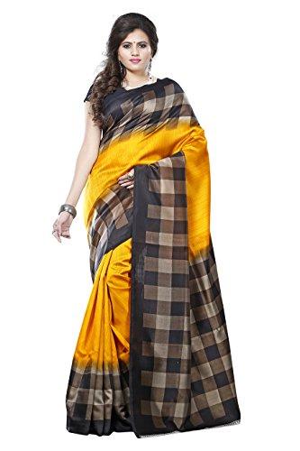 Winza Designer Women\'s Art Silk Saree With Blouse Piece (Rr-Imp6421 (1),Multicolor,Free Size)