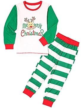 Hzjundasi Conjunto Pijamas Familia Navidad - Navidad Impreso Pijama Padre-Hijo Ropa de Dormir Manga Larga + Pantalones...