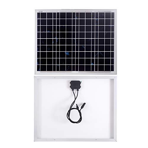 SARONIC Modulo Fotovoltaico da Pannello Solare Policristallino da 50W 12V per Caravan, Camper, Barca o Yacht