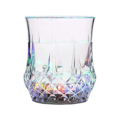 Longdrink-Set Kristallglas, LED-Taschenlampe Luminous Wine Drink Glass Cup Ananas Geformte Wasserflasche Die Stab Partei Versorgungsmaterial Abfragt.