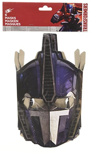 6 Transformers Party Masken (Transformers Bumblebee Maske)