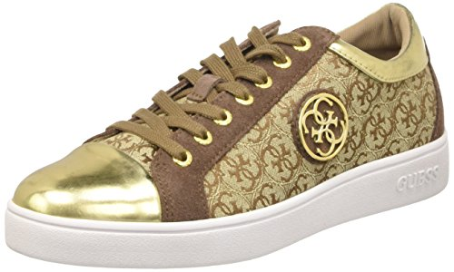 Guess Gloriana, Scarpe Low-Top Donna, Beige (Beibr), 35 EU