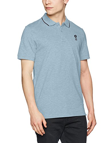 JACK & JONES Herren Poloshirt Jcostone Polo SS NOOS Blau (Faded Denim Fit:Reg Melange)