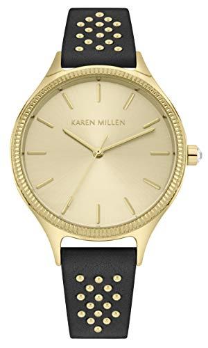 Karen Millen Unisex-Adult Analogue Classic Quartz Watch with Leather Strap KM175B