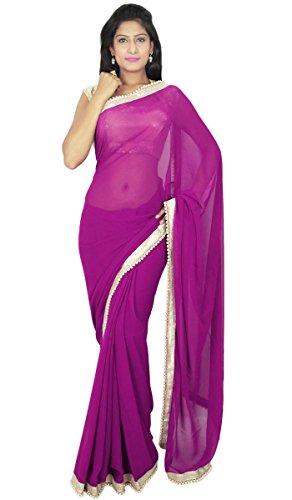 indischen traditionellen Sari Partei zu tragen Designer-Hochzeits Georgette Sari Geschenk für sie -