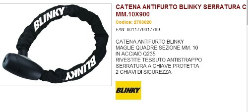 CATENA ANTIFURTO BLINKY SERRATURA CHIAVE