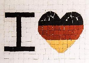 Trois petits points Kit de Mosaico Completo de Tres Puntos, Modelo Love Germany-Maxi, 6192459601090, Universal