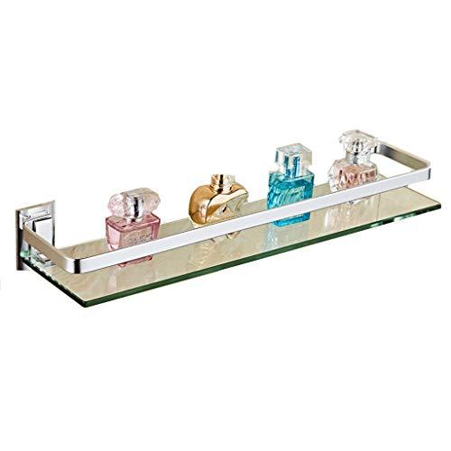 DZHtu Wandhalterung Regal Rack Bad Ablage, Raum Aluminium Einschichtige Beauty Schminktisch Glasablage for Bad WC Ablage Rack Bad Dusche Rack (Size : 58cm)