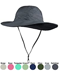 94ee40914cfc1a Purjoy Sun Hat for Men & Women, Wide Brim UPF 50+ UV Protection Beach Cap, Breathable  Outdoor Boonie…