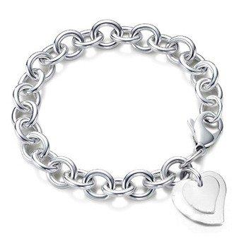 Designer Inspired Double Heart Charm Pendant Bracelet