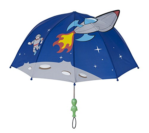 Kidorable Original Gebrandmarkt Kinderregenschrim Weltraum für Jungen, Blau, Ein Größe (Kinder Uv-camo)