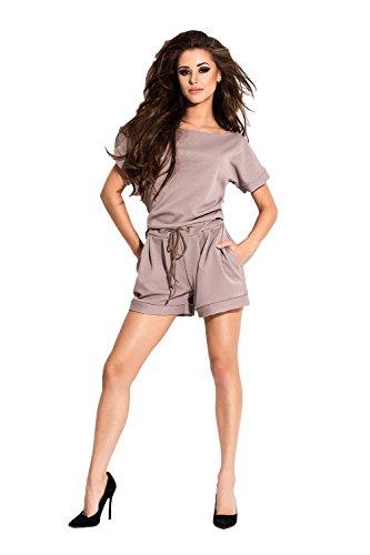Jumpsuit queen verkleidung camouflage kostüm damen cosplay frauen elegant lang fasching sommer (M, BEIGE 006)