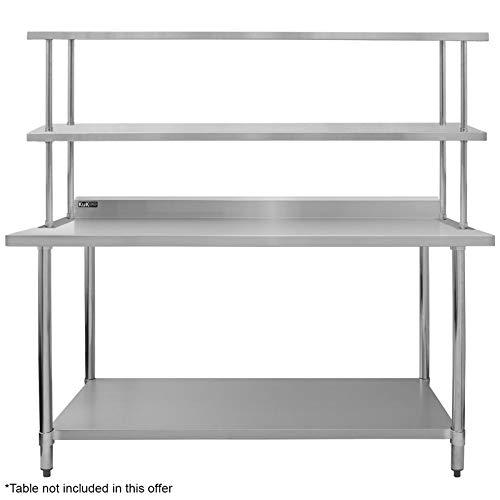 Kukoo Gastro Regal Aufsatzbord Doppelregal Aufsatzboard Gastronomie Küche Arbeitstisch Edelstahl 100 Kg Tragkraft
