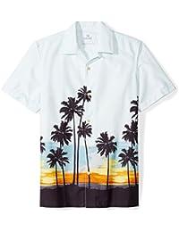 Marca Amazon - 28 Palms Standard-fit 100% Cotton Tropical Hawaiian Shirt Hombre