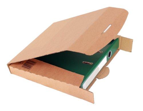 progressCARGO Ordner-Transportbox PC O02.01, DIN A4, 320 x 288 x 50 mm, 20-er Pack, braun