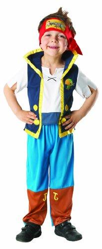 m Pirat Jake und die Nimmerland Piraten Gr.3-4 J. (Kinder Jake Pirat Kostüm)
