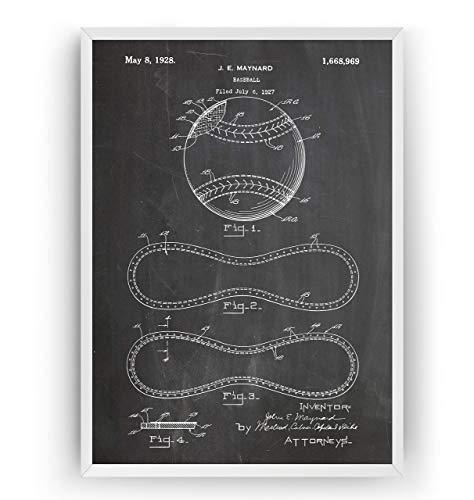 Baseball-Nähte Patent Poster - Baseball Stitching Jahrgang Drucke Drucken Bild Kunst Geschenke Zum Männer Frau Entwurf Dekor Vintage Art Gifts For Men Women Blueprint Decor - Rahmen Nicht Enthalten