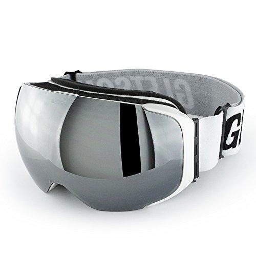 GLETSCHER Skibrille Snowboardbrille VANDAZ (Weiß Hochglanz / Chrom)