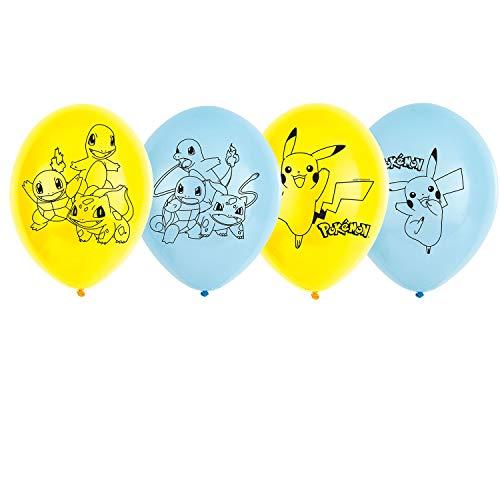 (Amscan International Amscan 9904826 Latex-Luftballon, 4-seitiger Druck, 28 cm, 6 Stück)