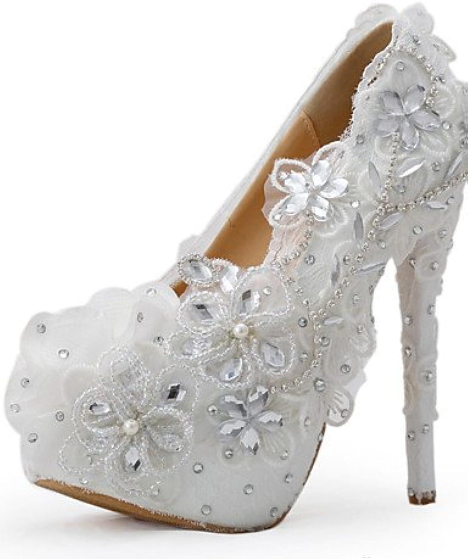 GGX/ Zapatos de boda-Tacones-Tacones-Boda / Vestido / Fiesta y Noche-Blanco-Mujer , 5in & over-us8.5 / eu39 /...