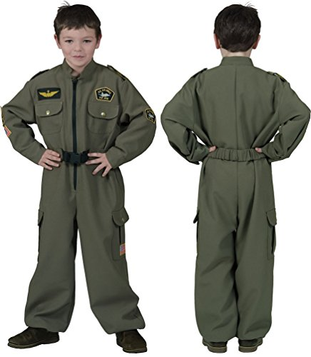 ,Karneval Klamotten' Kostüm Pilot Junge Karneval Jetpilot Kinderkostüm Größe (Jungen Gun Kostüme Top)
