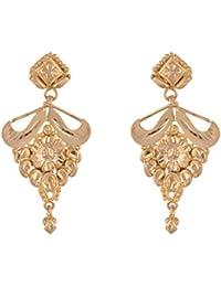 SKN 22kt Gold Plated Copper Metal Daily Wear Dangle & Drop Earrings For Women & Girls (SKN-1604)