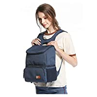 LOUYT Waterproof Lunch Bag for Women Men Picnic Storage Lunch Box Cooler Bag Tote Nylon Insulation Lunch Bag Package Portable Blue