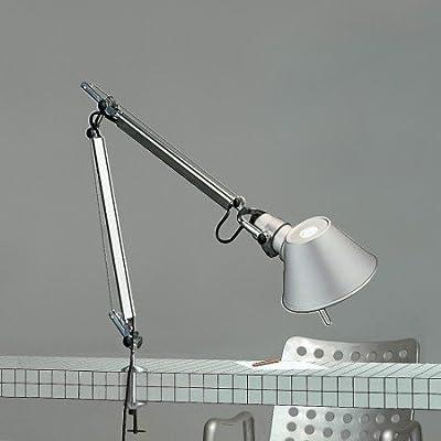 Artemide - Tolomeo Mini mit Klemme - Aluminium, mit Tischklemme