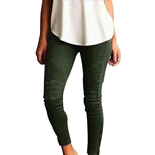 Pantalons de Crayon,GreatestPAK Mode Femmes Lady Skinny Taille Haute Stretch Slim Pantalons (M, Marine)