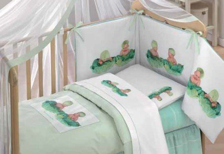 Lenzuola Baby culla Carbage Anne Geddes - Completo per culla
